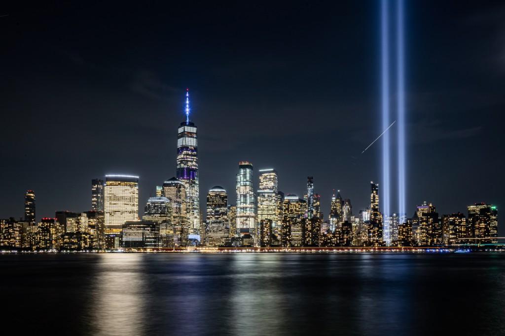 City Lights On Downtown Manhattan