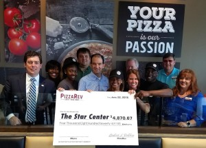 PizzaRev STAR Center donation