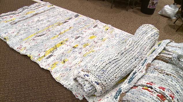 Bag Ladies Make Mats For Homeless Out Of Plastic Grocery