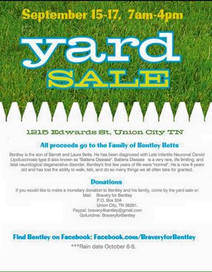 Family organizes yard sale to benefit boy with rare illness