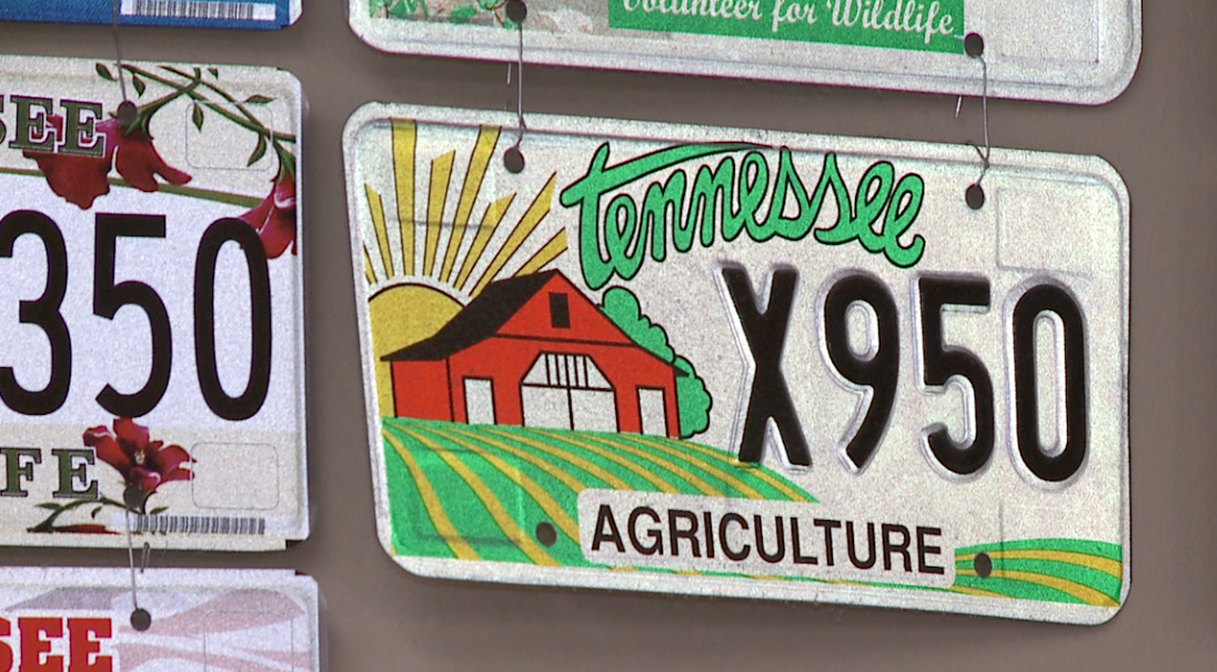 Tennessee agriculture license plate marks 20th anniversary - WBBJ TV