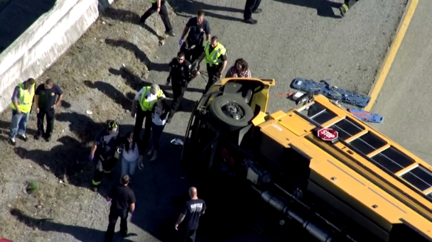 School bus crashes near Nashville, injuring 12 students