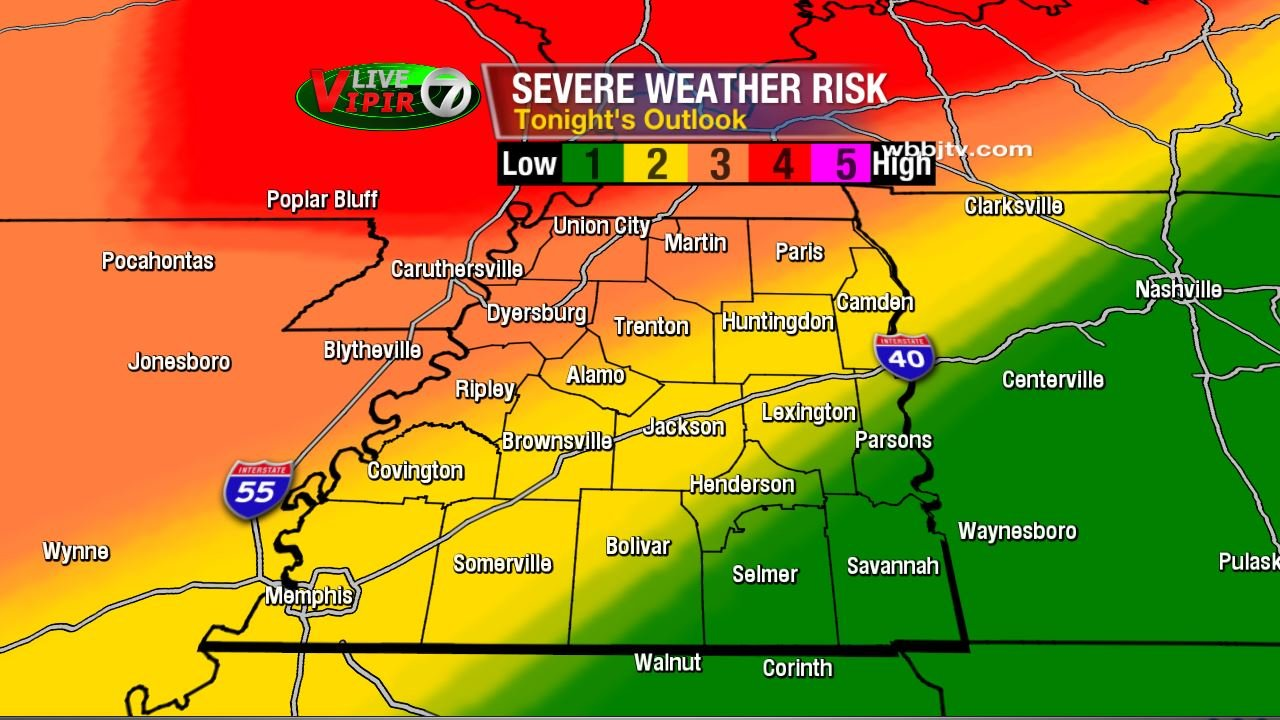Risk for Severe Weather Tonight and Wednesday - WBBJ TV