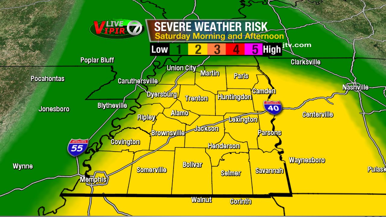 Scattered Thunderstorms Expected Saturday WBBJ TV - Us map weather tomorrow