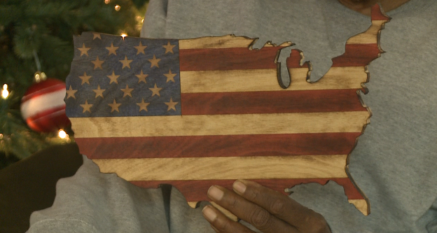 The Rustic Flag Company Out Of Trenton Made A Special Visit To Tennessee State Veterans Home Friday Morning