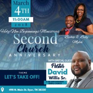 Church Anniversary @ Holy New Beginnings Ministries