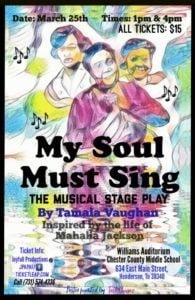 My Soul Must Sing @ Williams Auditorium