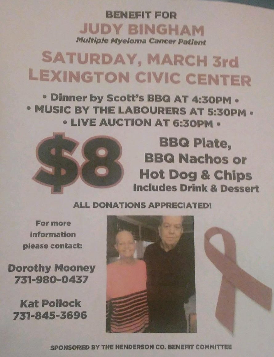 Benefit for Judy Bingham @ Lexington Civic Center