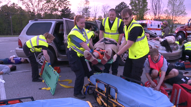 Local students learn how to better save lives at mock