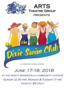 The Dixie Swim Club (ARTS Theatre Group production) @ The Marty (Adamsville Community Center)