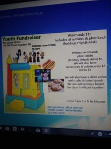 Youth fundraiser @ Church