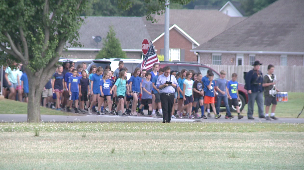 Local middle school holds annual Civil War re-enactment