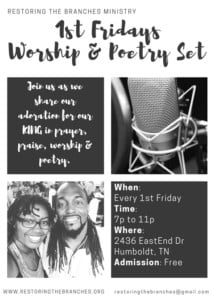 First Fridays Poetry Session @ Restoring the Branches Ministry