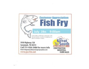 11 Annual Summer Auction Free Customer Appreciation Fish Fry @ 11 Annual Summer Auction