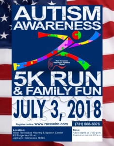 Autism Awareness 5k Freedom Run @ West Tennessee Hearing and Speech Center