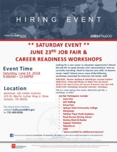 Job Fair & Career Readiness Workshop Event @ American Job Center | Jackson | Tennessee | United States