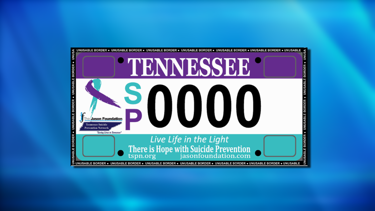 TN Suicide Prevention Network asks for support for new license plate ...