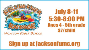 VBS Rolling River Rampage @ First United Methodist Church  | Jackson | Tennessee | United States