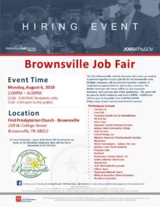 Brownsville Job Fair @ First Presbyterian Church-Brownsville