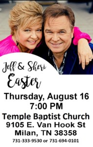 JEFF & SHERI EASTER SINGING @ Temple Baptist Church