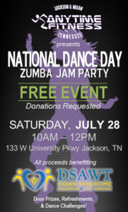 National Dance Day Zumba Jam @ Anytime Fitness of Jackson
