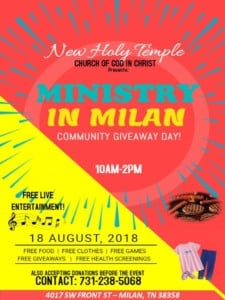 Community Day @ New Holy Temple    Milan   Tennessee   United States