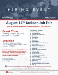 Jackson Job Fair @ American Job Center