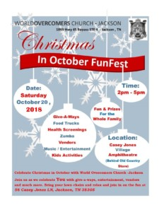 Christmas in October FunFest @ WorldOvercomers Church Jackson