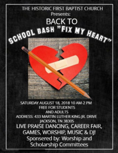 Career Fair and Back to School Praise Bash @ Historic First Baptist Church   Jackson   Tennessee   United States