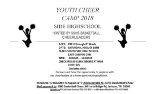 Youth Cheer Camp @ South Side Hawks Cheerleaders   Jackson   Tennessee   United States