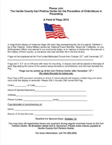 1st Annual Hardin County Carl Perkins Center's Field of Flags @ First United Methodist Church | Savannah | Tennessee | United States