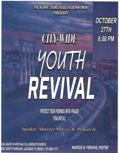 City Wide Youth Revival @ Agape Church | Jackson | Tennessee | United States