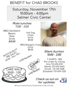 Benefit for Chad Brooks @ Selmer Community Center