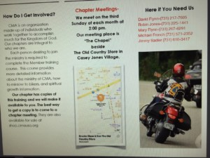 Christian Motorcyclist Association Monthly Meeting @ Chapel at Old Country Store | Jackson | Tennessee | United States