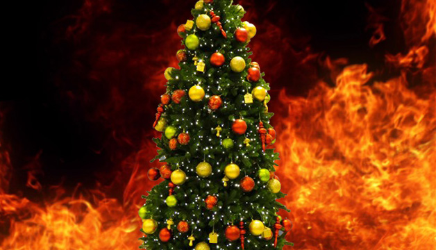 Christmas Tree On Fire.State Fire Marshal Offers Christmas Tree Safety Tips Wbbj Tv