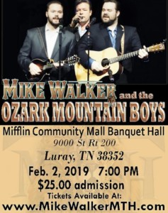 Mike Walker in Concert @ Mifflin Community Mall Banquet Hall