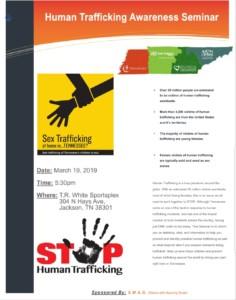 Human Trafficking Seminar @ T.R. White Sportsplex