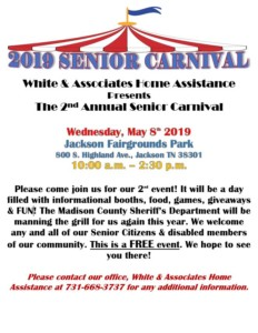 2nd Annual Senior Carnival - Presented by White & Associates Home Assistance @ The Jackson Fairgrounds
