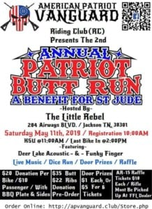 AP Vanguard 2nd Annual Butt Run- A Benefit for St Jude @ Little Rebel