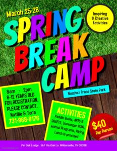 Pin Oak Lodge Spring Break Day Camp @ Natchez Trace State Park