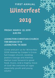 Winterfest @ Lexington Christian Church