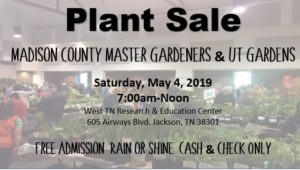 Madison County Master Gardener Plant Sale @ West TN Research & Education Center