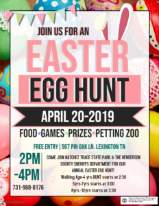 Natchez Trace State Park's Annual Easter Egg Hunt @ Pin Oak Lodge