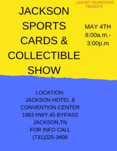 Jackson Sports Cards & Collectibles Show @ Jackson Hotel & Convention Center