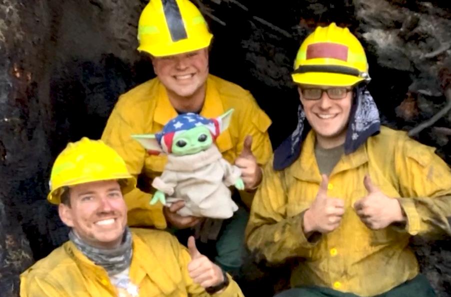 Baby Yoda Fire
