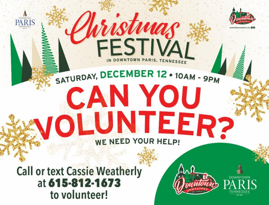 Volunteers For Christmas Festival
