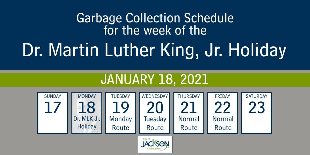 Mlk Garbage Schedule