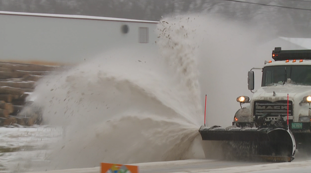 Snow Plow Clears Roads In West Tennessee