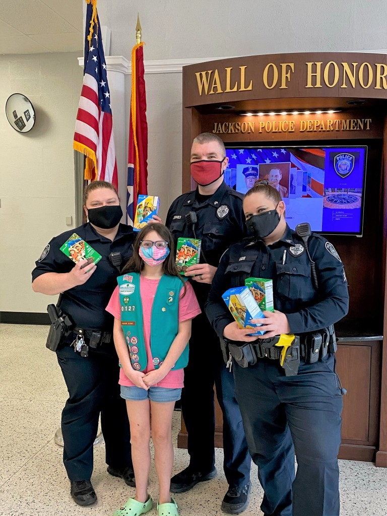 Jpd Receives Girl Scout Cookies