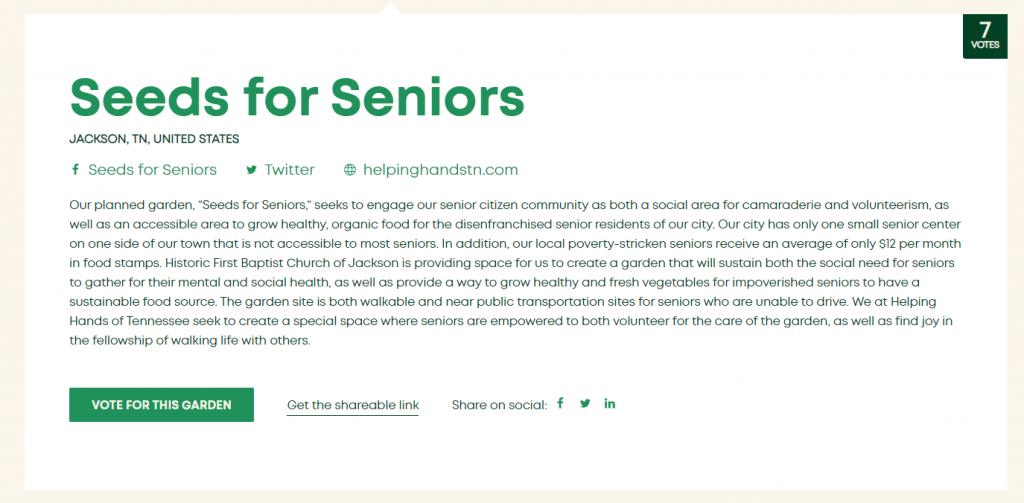 Seeds For Seniors